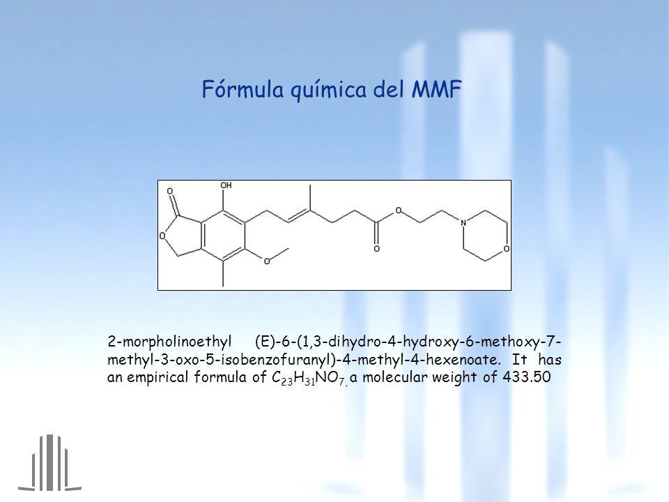 Fórmula química del MMF