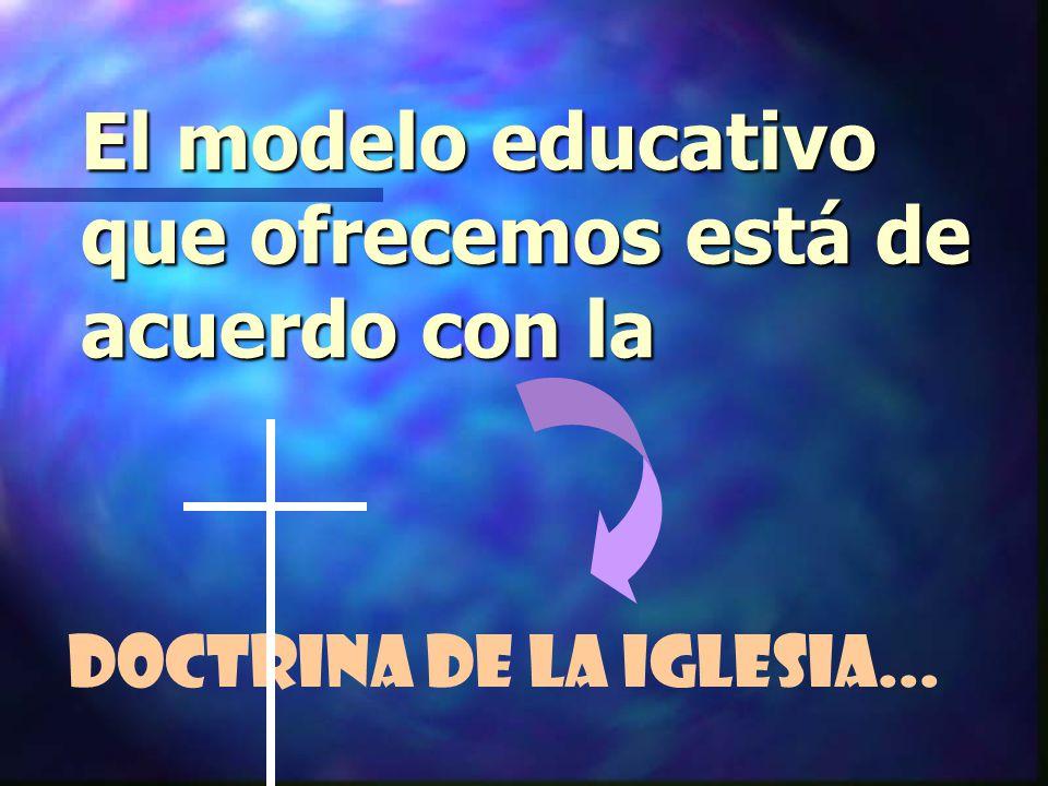 El modelo educativo que ofrecemos está de acuerdo con la