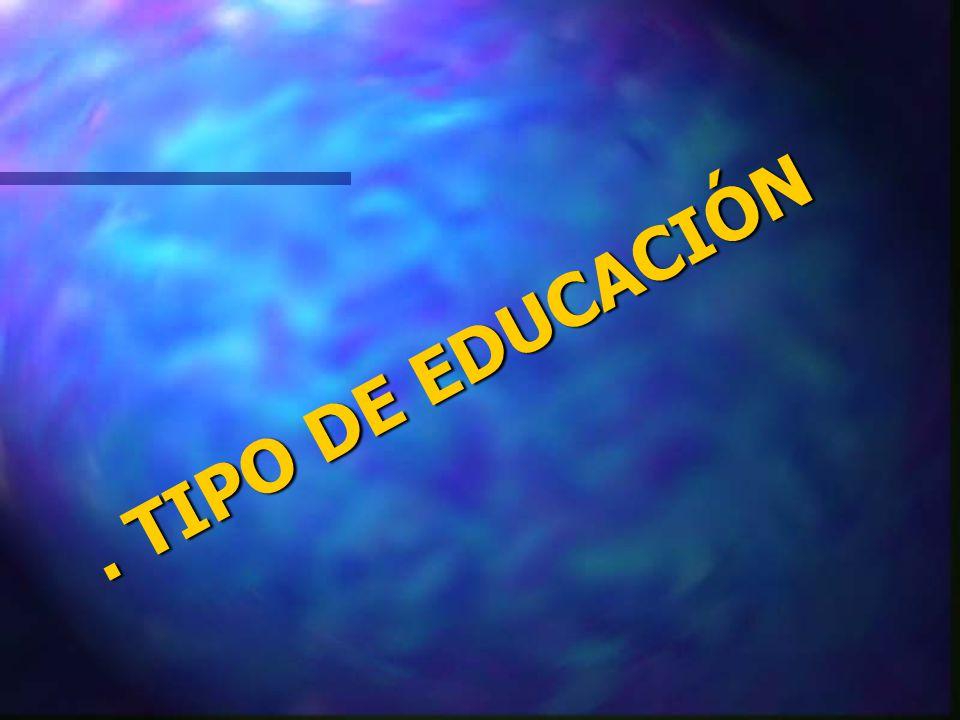. TIPO DE EDUCACIÓN