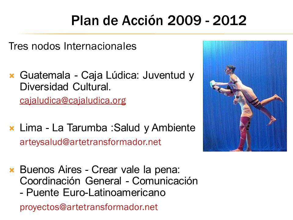 Plan de Acción 2009 - 2012 Tres nodos Internacionales