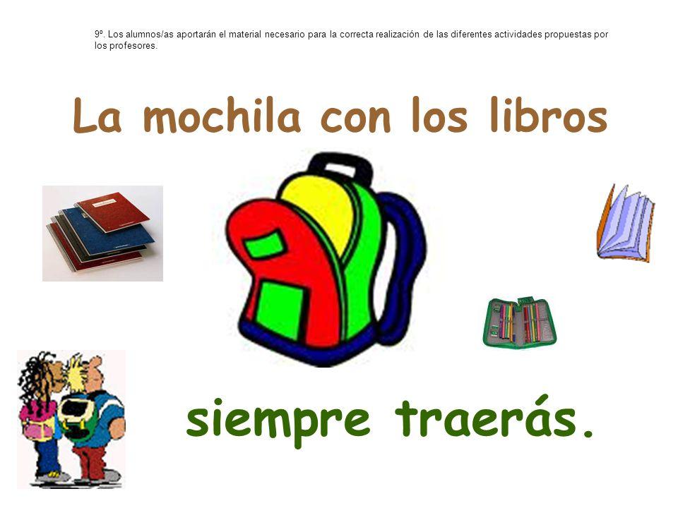 La mochila con los libros