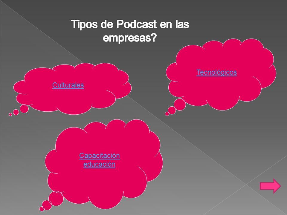 Tipos de Podcast en las empresas
