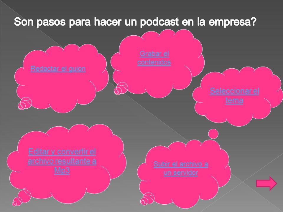 Son pasos para hacer un podcast en la empresa