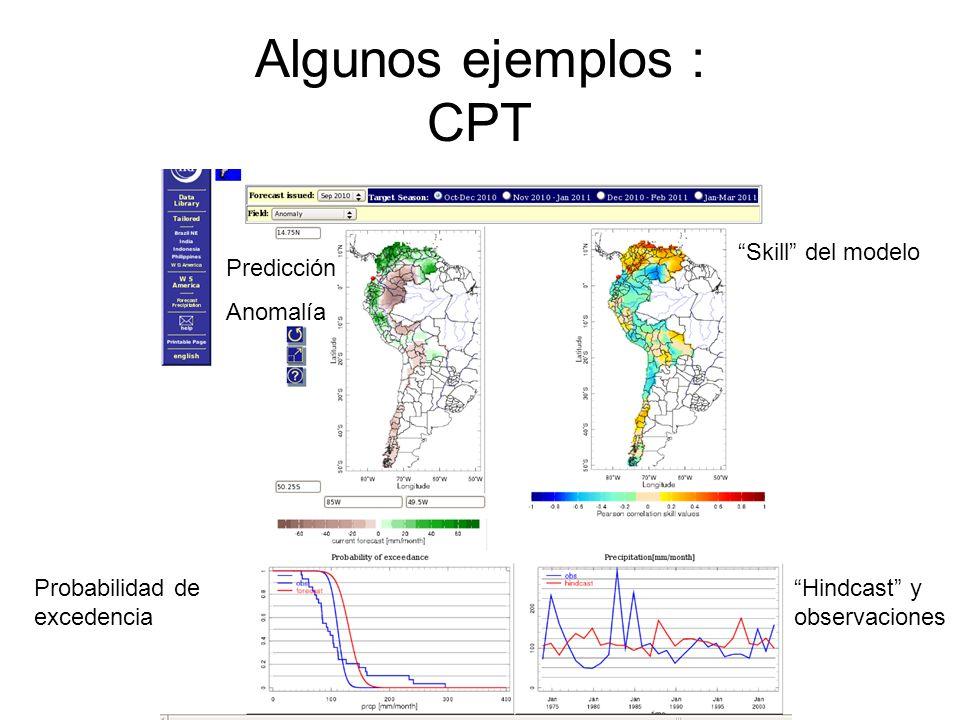 Algunos ejemplos : CPT Skill del modelo Predicción Anomalía