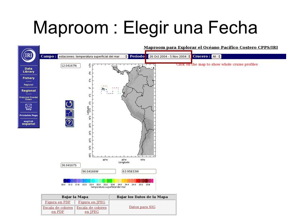 Maproom : Elegir una Fecha