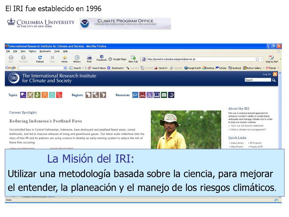 El IRI fue establecido en 1996