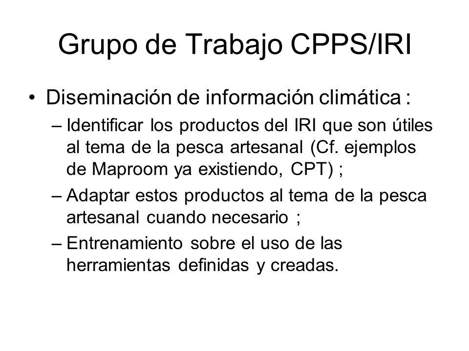 Grupo de Trabajo CPPS/IRI