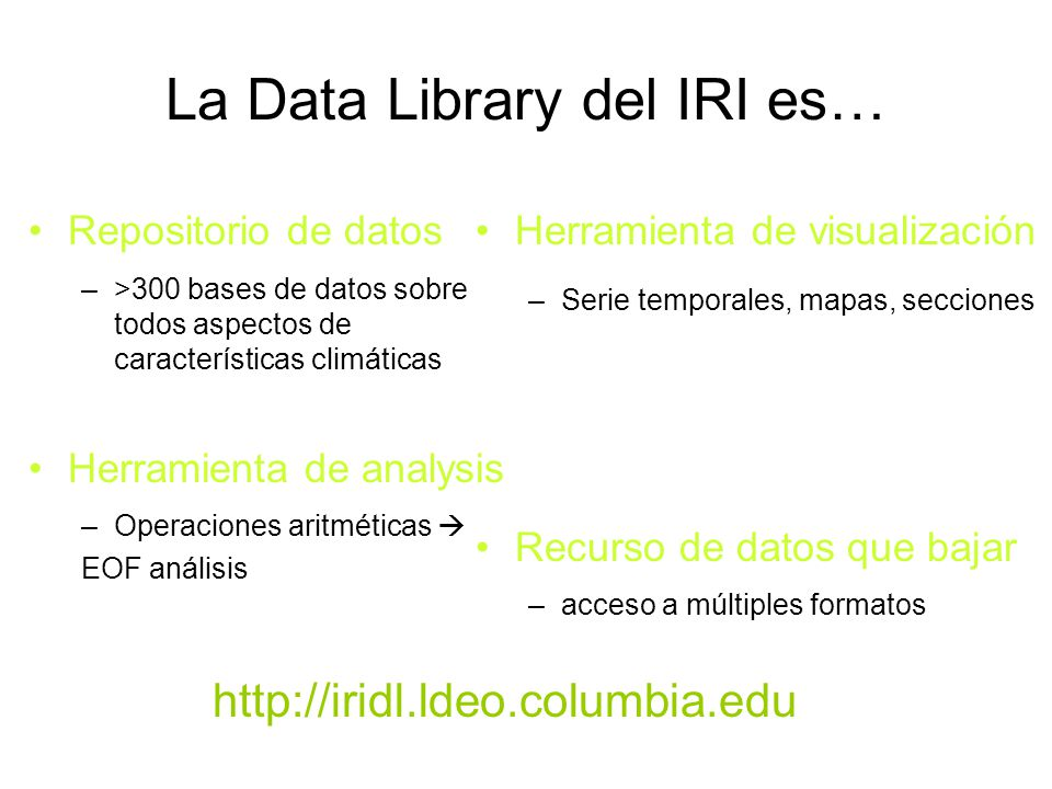 La Data Library del IRI es…
