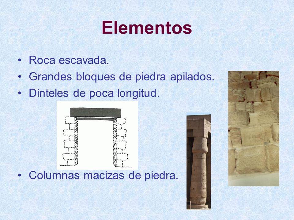 Elementos Roca escavada. Grandes bloques de piedra apilados.