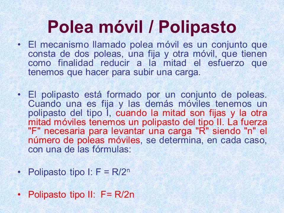 Polea móvil / Polipasto