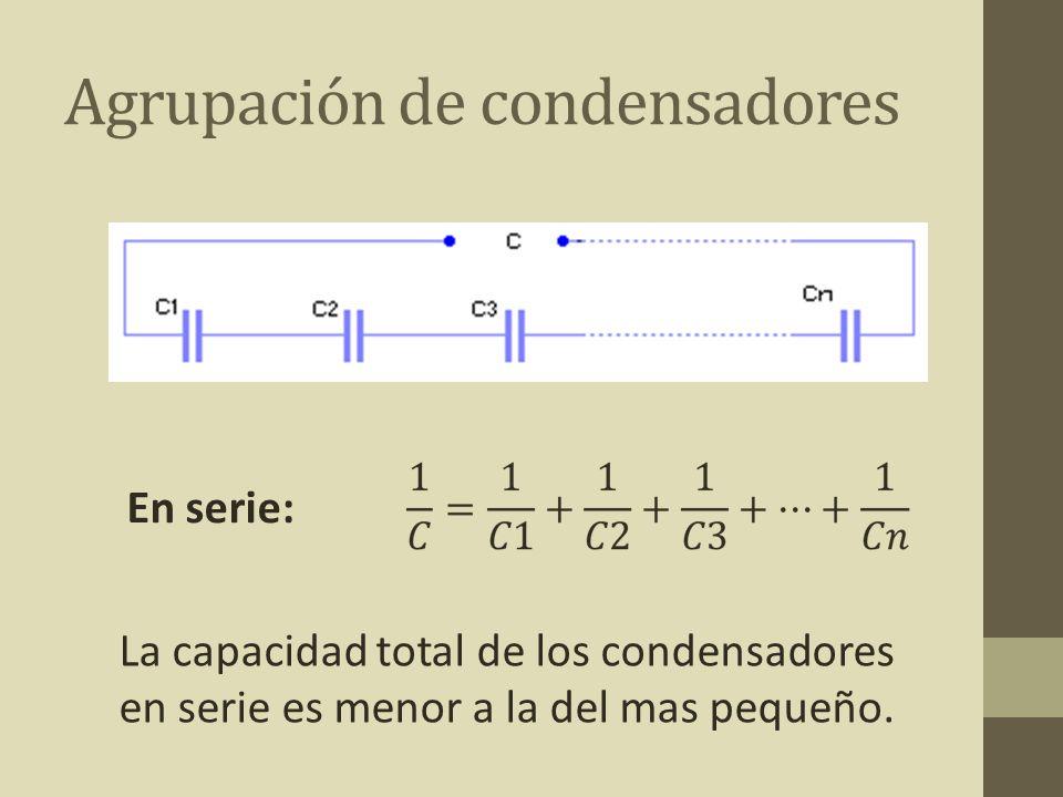 Agrupación de condensadores