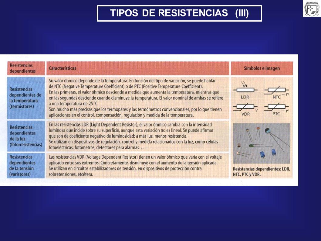 TIPOS DE RESISTENCIAS (III)