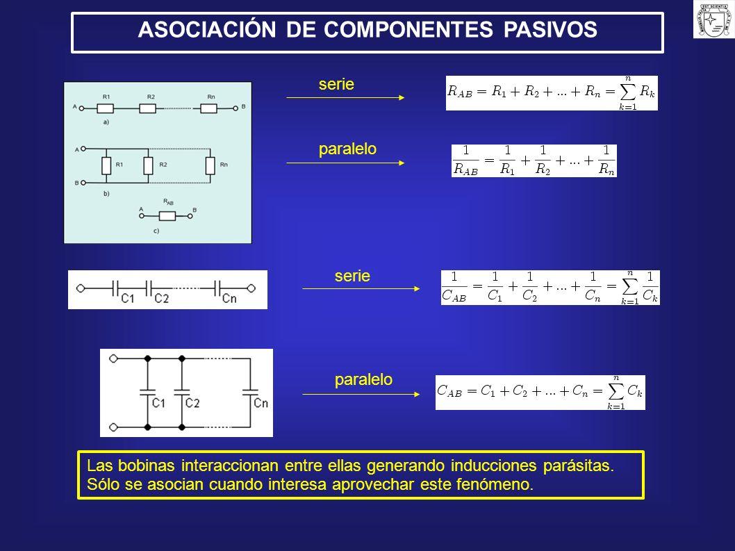 ASOCIACIÓN DE COMPONENTES PASIVOS