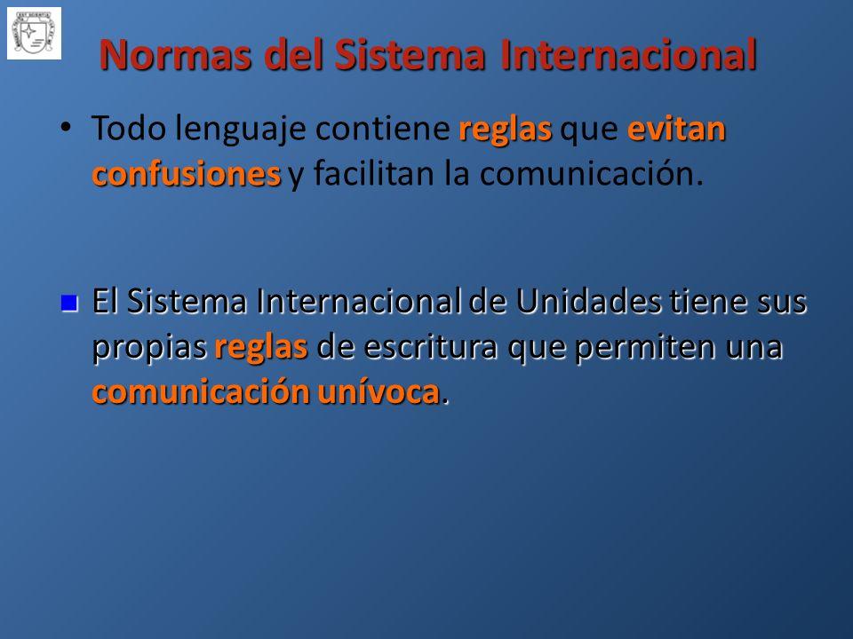 Normas del Sistema Internacional