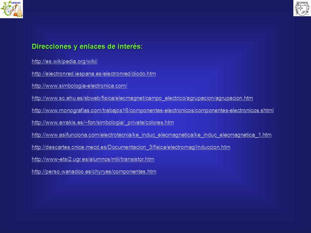 Direcciones y enlaces de interés: