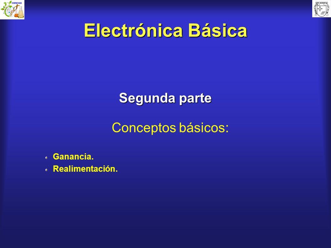 Electrónica Básica Segunda parte Conceptos básicos: Ganancia.