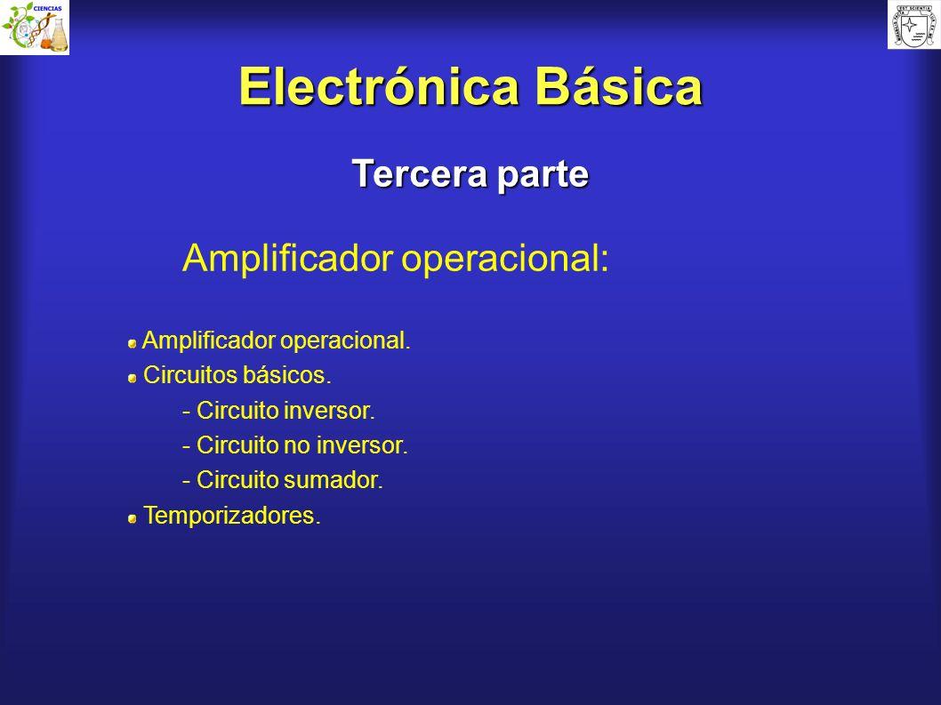 Electrónica Básica Tercera parte Amplificador operacional: