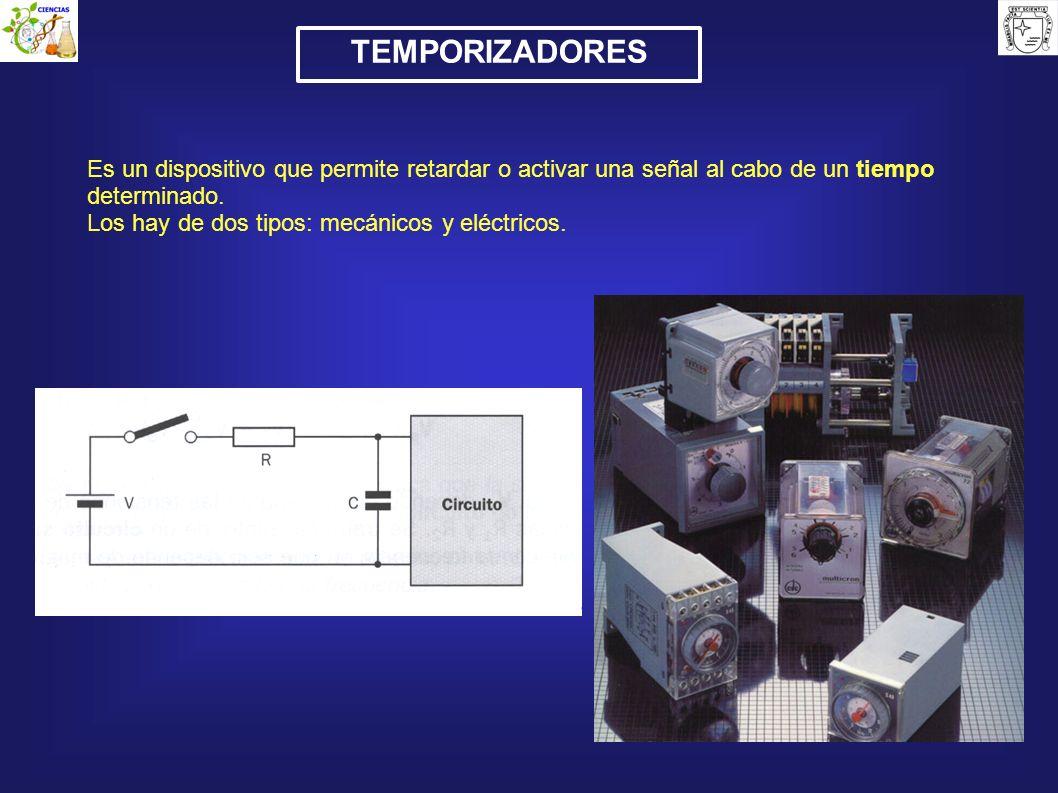 TEMPORIZADORES Es un dispositivo que permite retardar o activar una señal al cabo de un tiempo determinado.