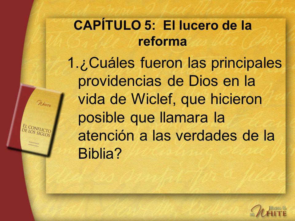 CAPÍTULO 5: El lucero de la reforma