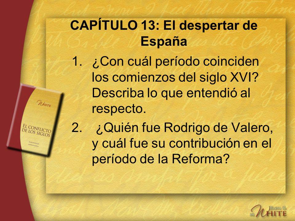 CAPÍTULO 13: El despertar de España