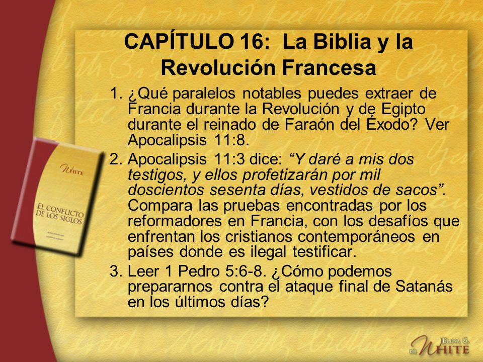 CAPÍTULO 16: La Biblia y la Revolución Francesa