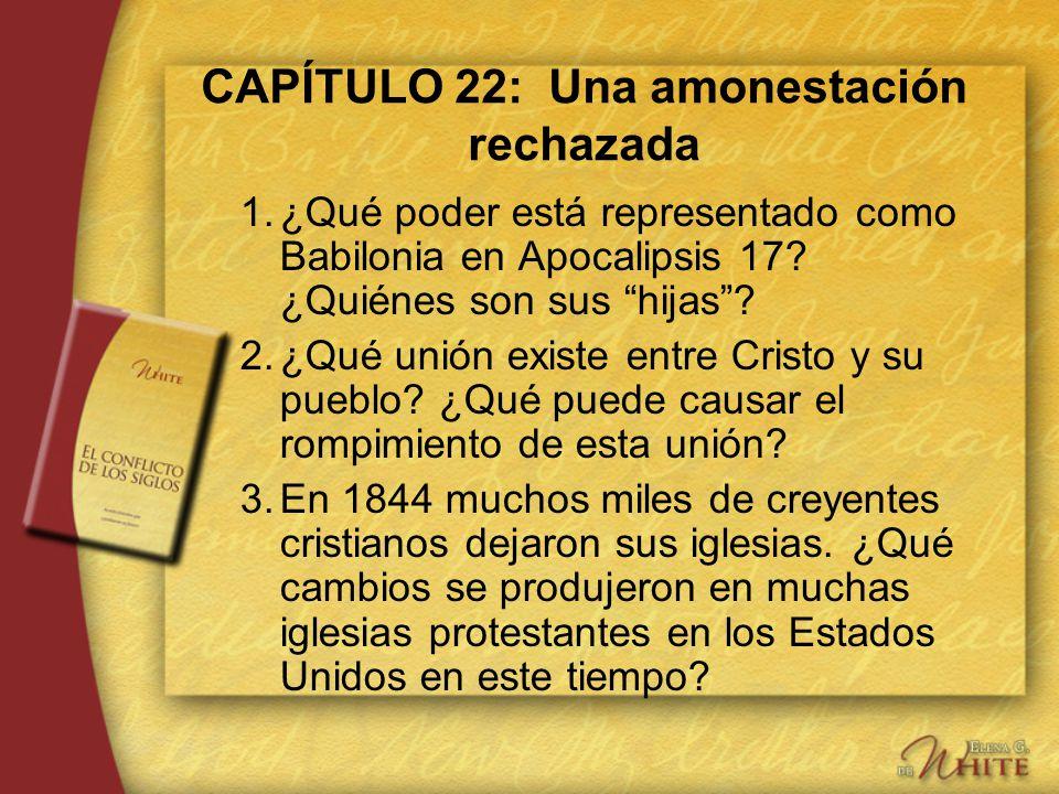 CAPÍTULO 22: Una amonestación rechazada