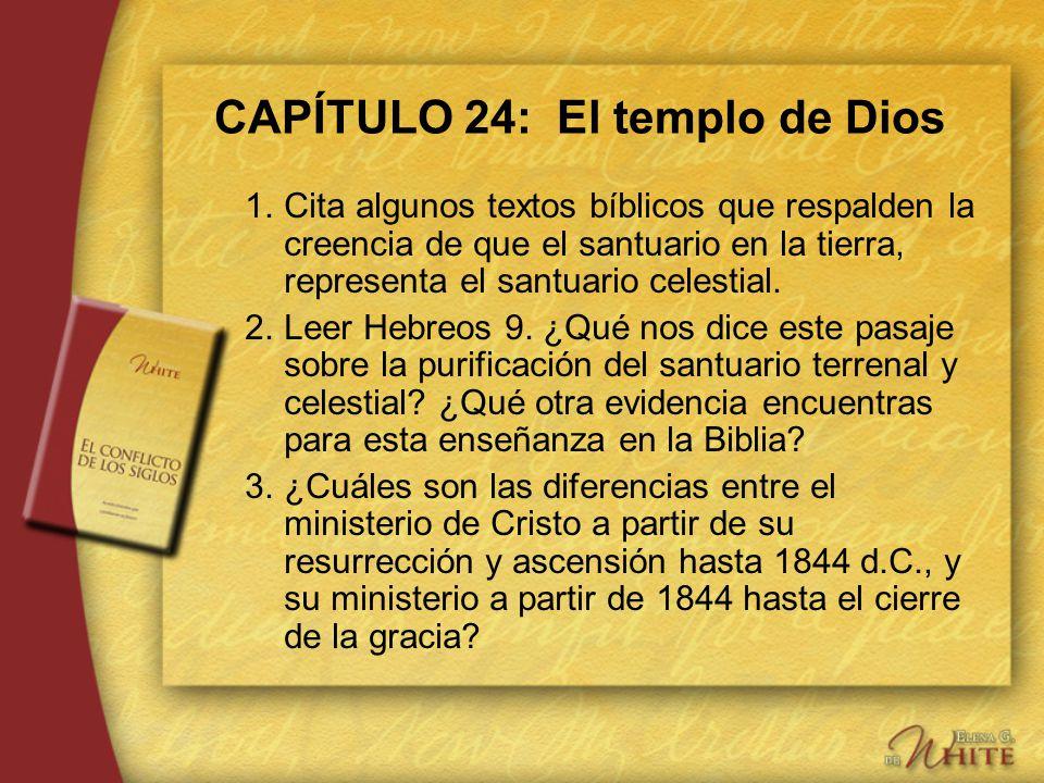 CAPÍTULO 24: El templo de Dios