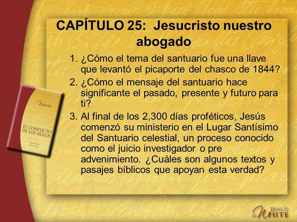 CAPÍTULO 25: Jesucristo nuestro abogado