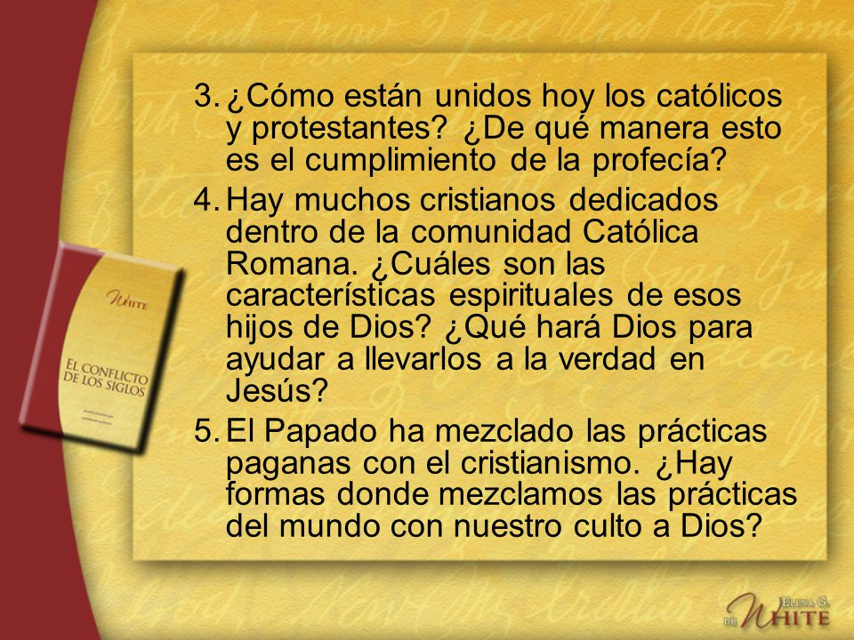 3. ¿Cómo están unidos hoy los católicos y protestantes
