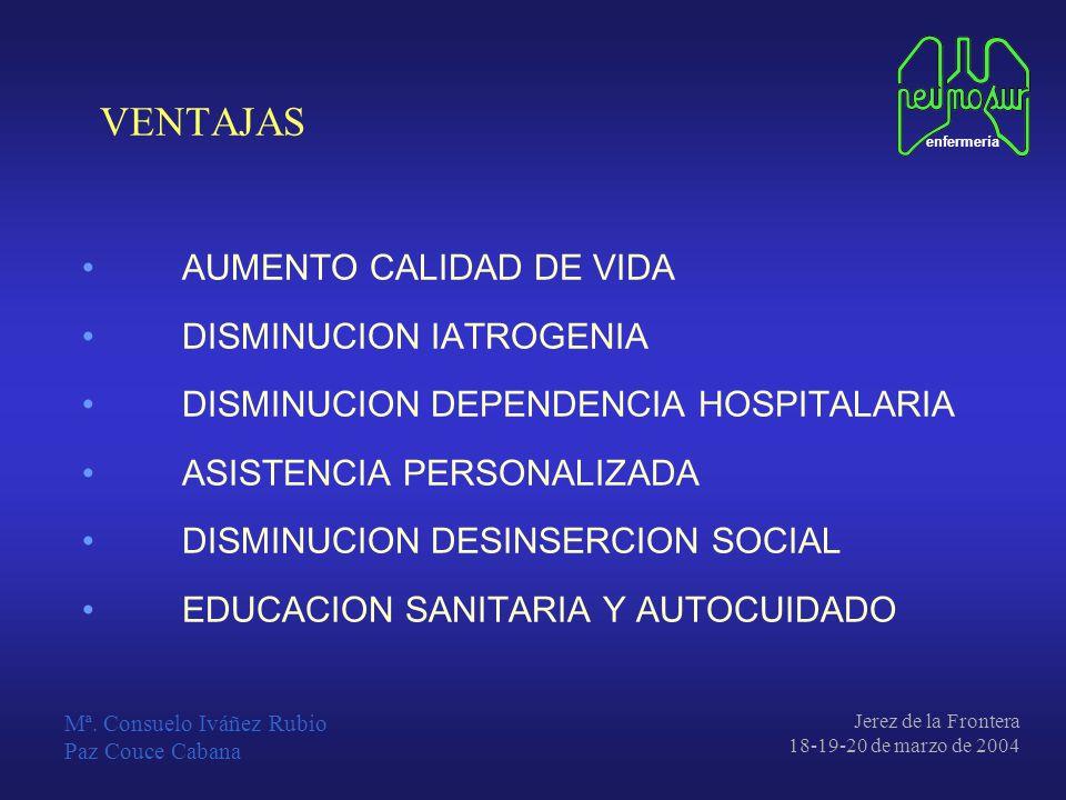 VENTAJAS AUMENTO CALIDAD DE VIDA DISMINUCION IATROGENIA