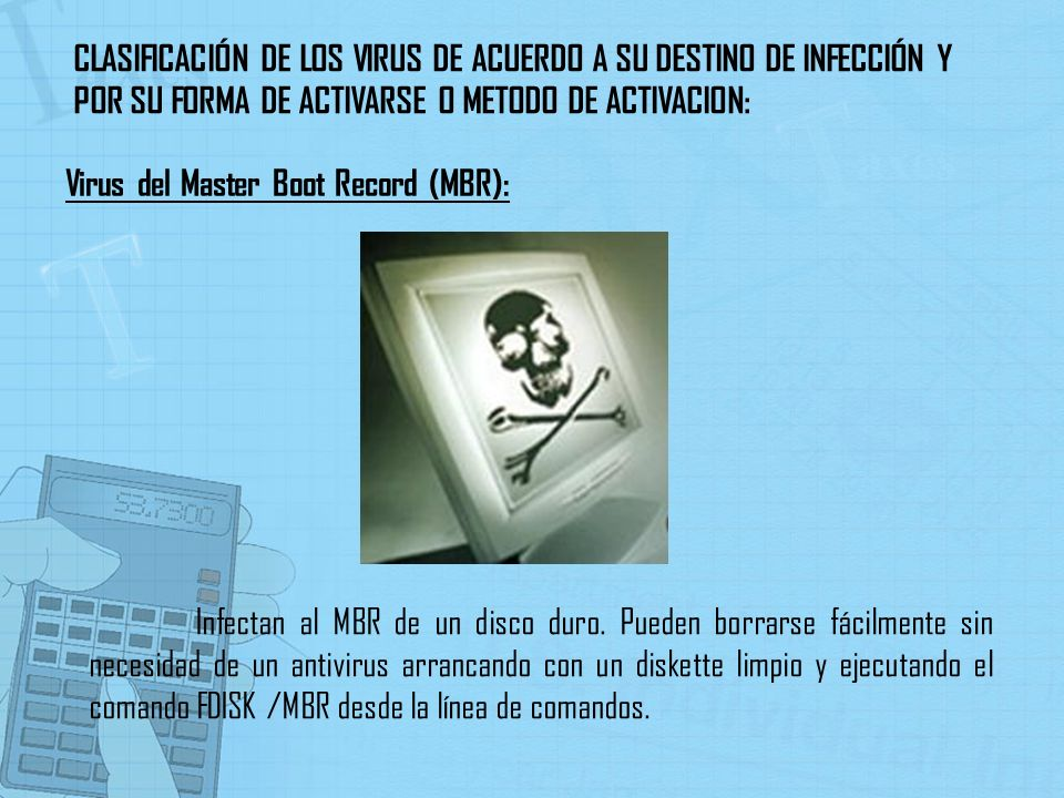 Virus del Master Boot Record (MBR):