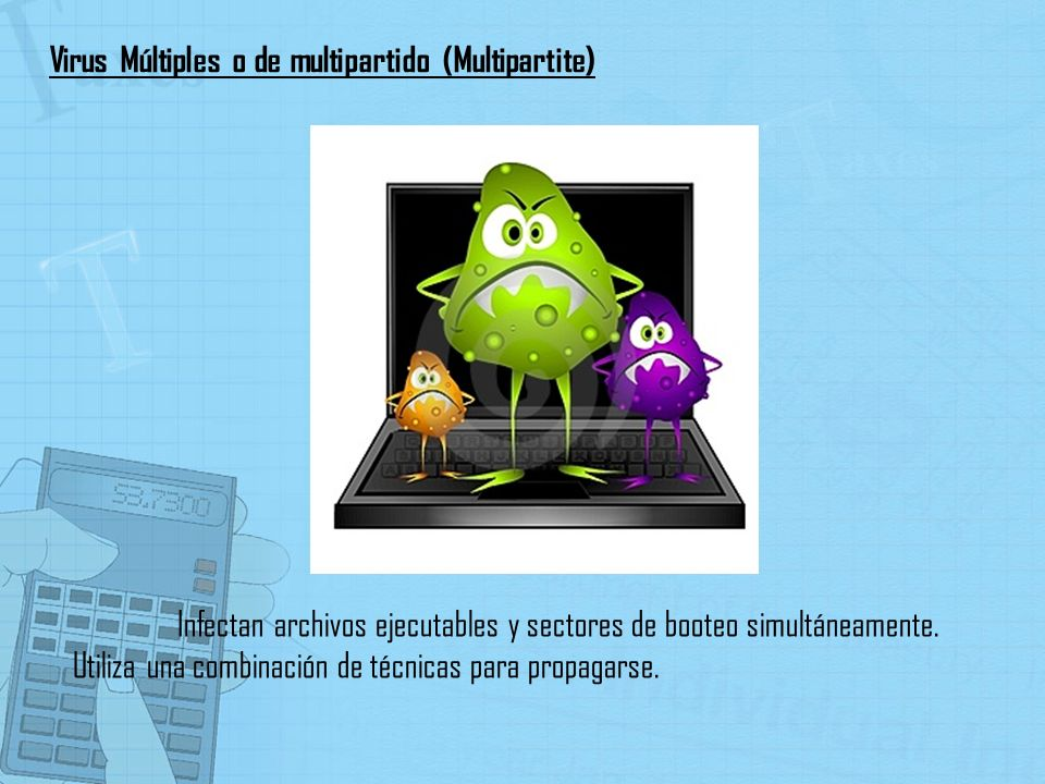 Virus Múltiples o de multipartido (Multipartite)