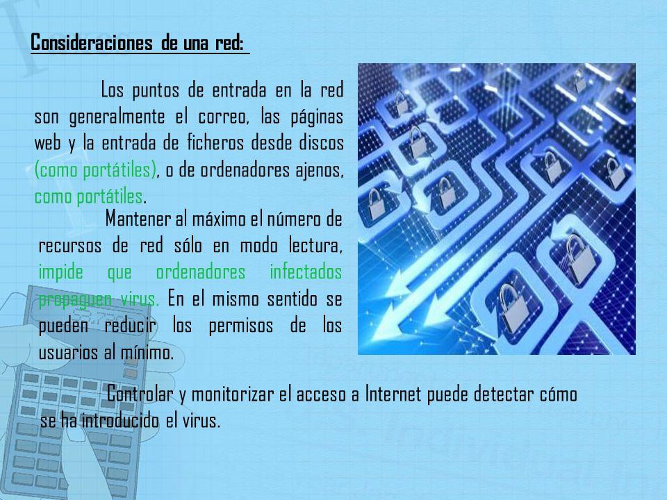 Consideraciones de una red:
