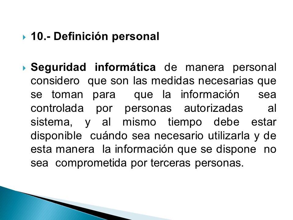 10.- Definición personal