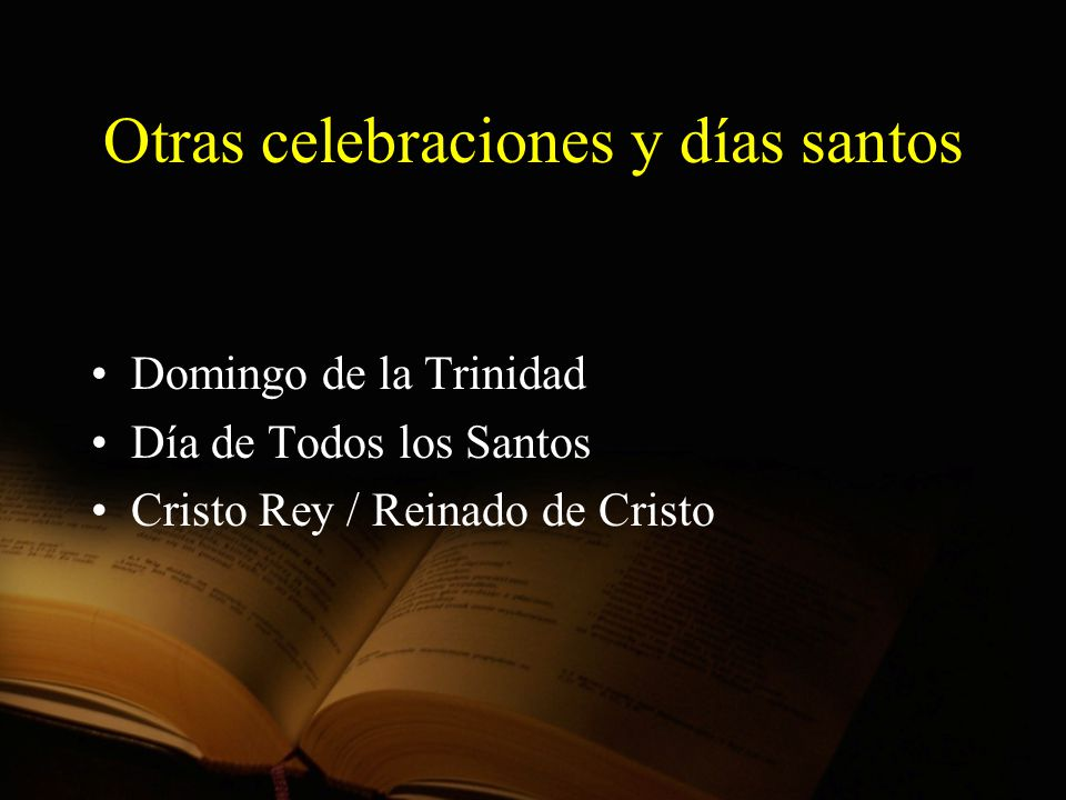 Otras celebraciones y días santos