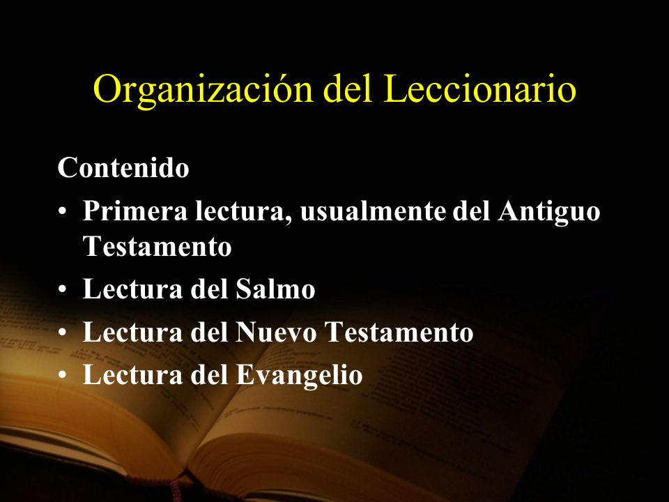 Organización del Leccionario