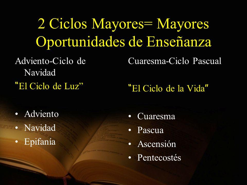 2 Ciclos Mayores= Mayores Oportunidades de Enseñanza
