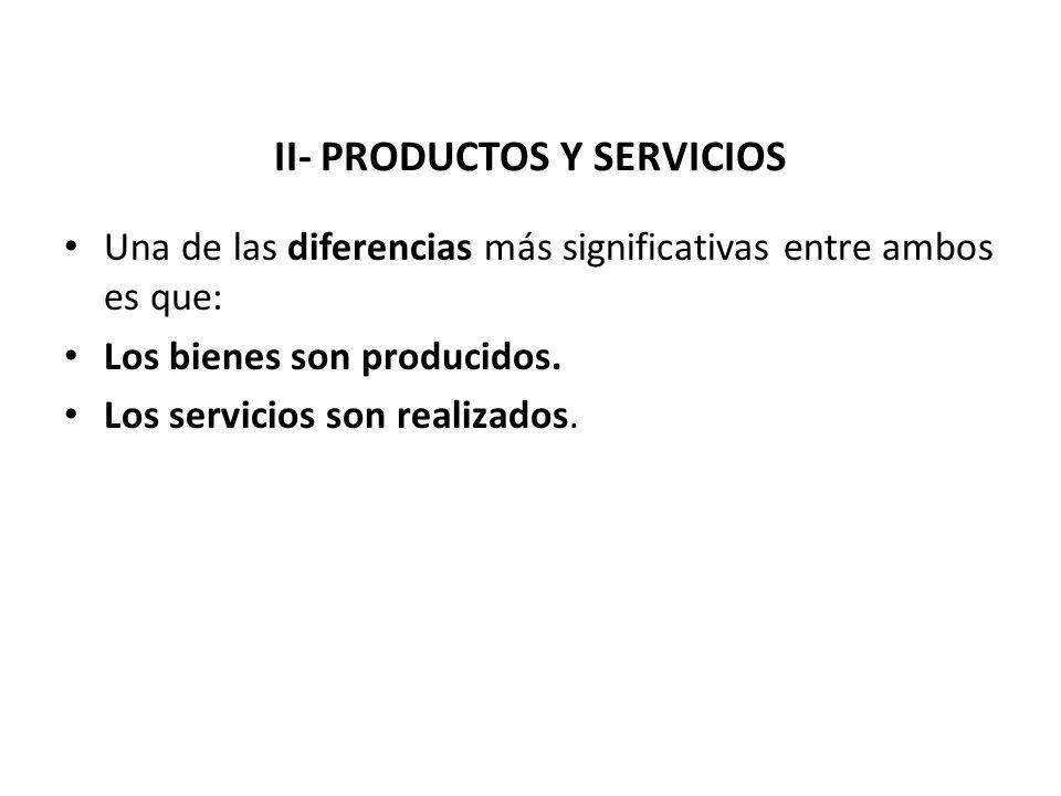II- PRODUCTOS Y SERVICIOS