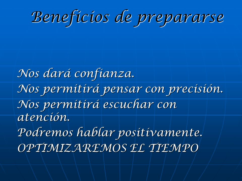 Beneficios de prepararse