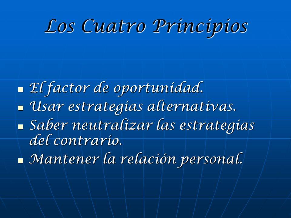 Los Cuatro Principios El factor de oportunidad.