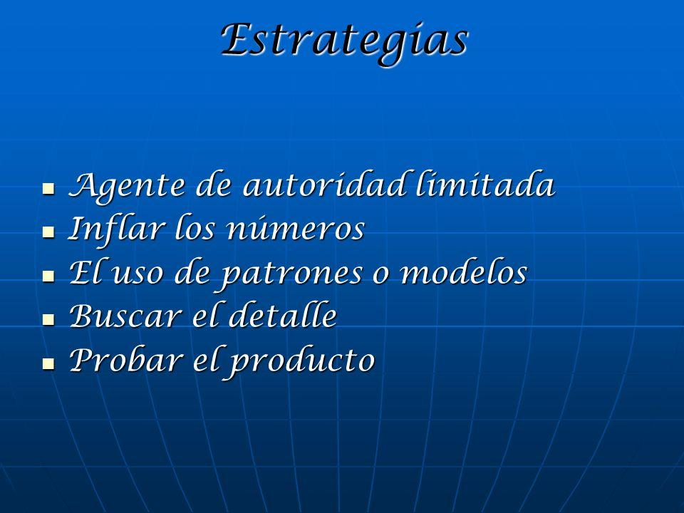 Estrategias Agente de autoridad limitada Inflar los números