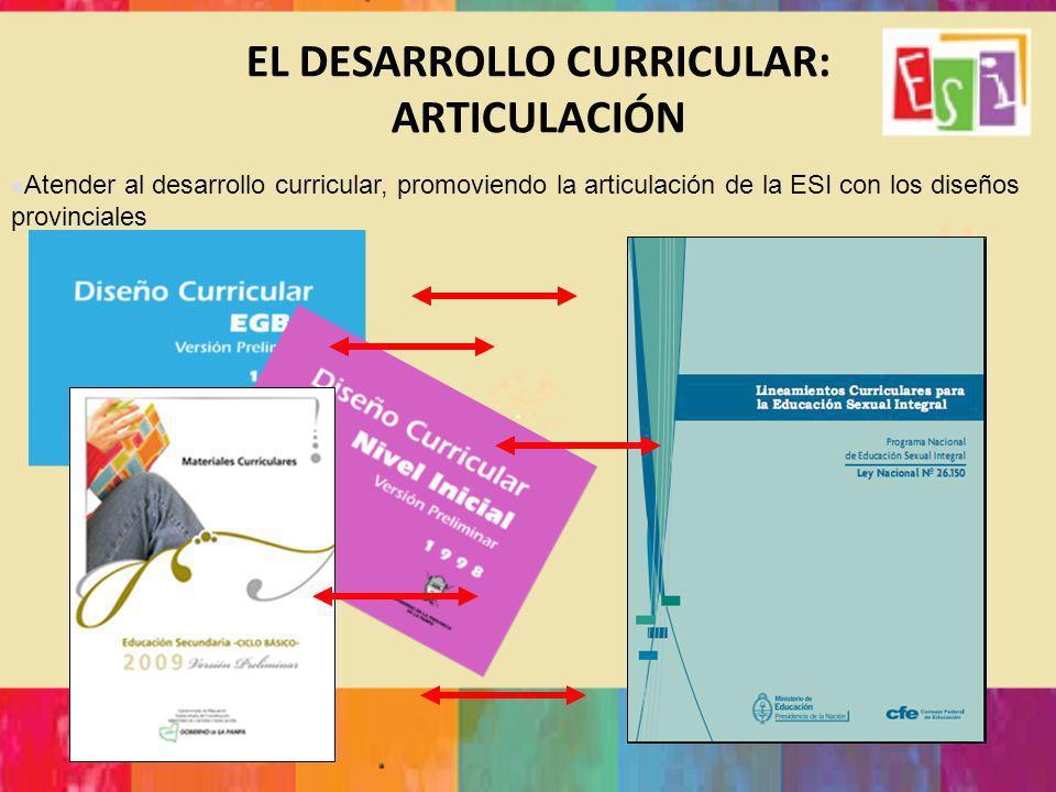 EL DESARROLLO CURRICULAR: ARTICULACIÓN