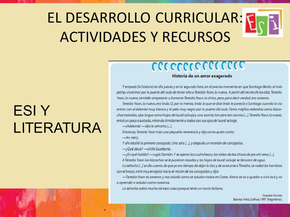 EL DESARROLLO CURRICULAR: ACTIVIDADES Y RECURSOS