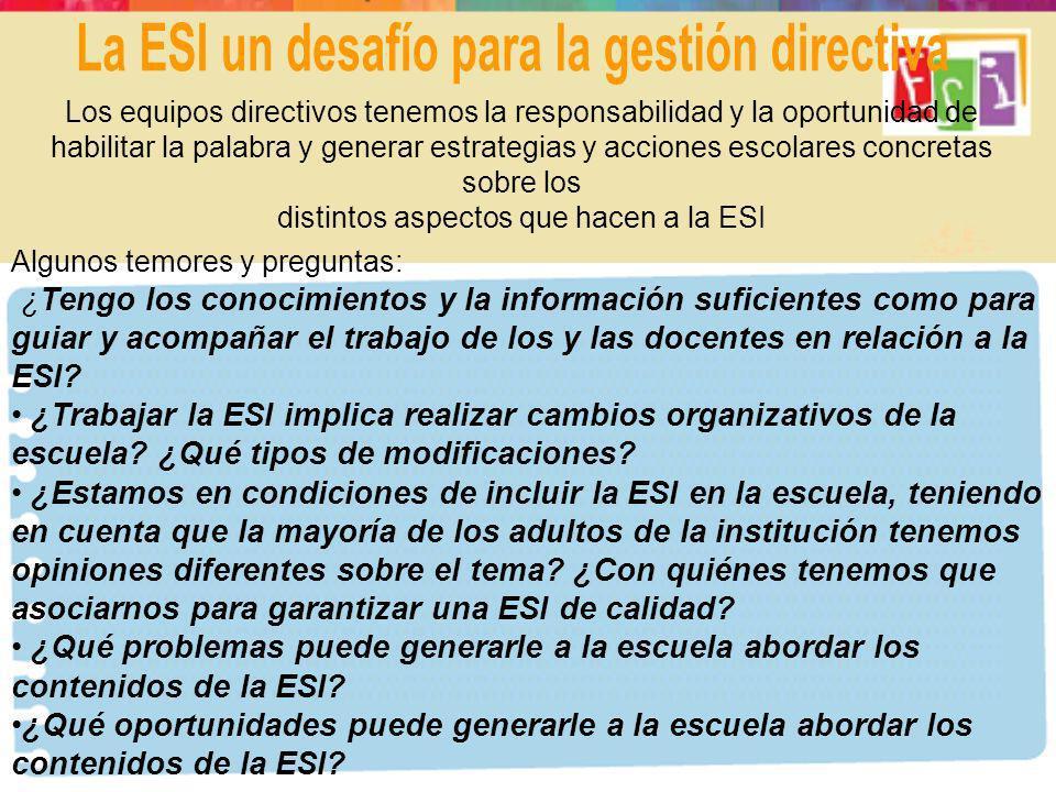 La ESI un desafío para la gestión directiva