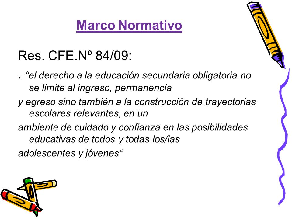 Marco Normativo Res. CFE.Nº 84/09: