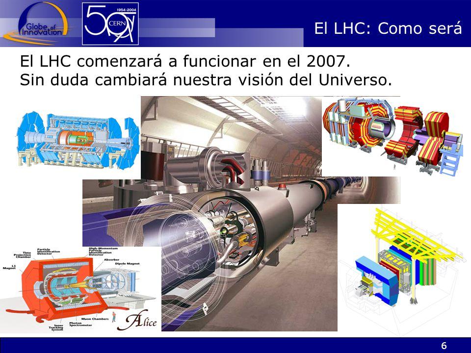 El LHC: Como será El LHC comenzará a funcionar en el 2007.