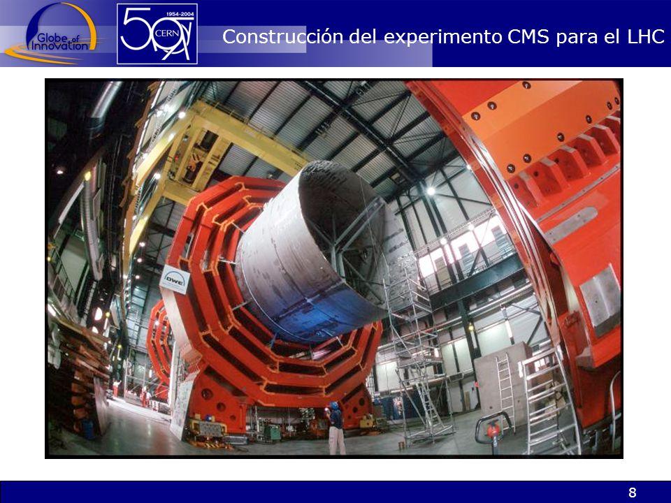 Construcción del experimento CMS para el LHC