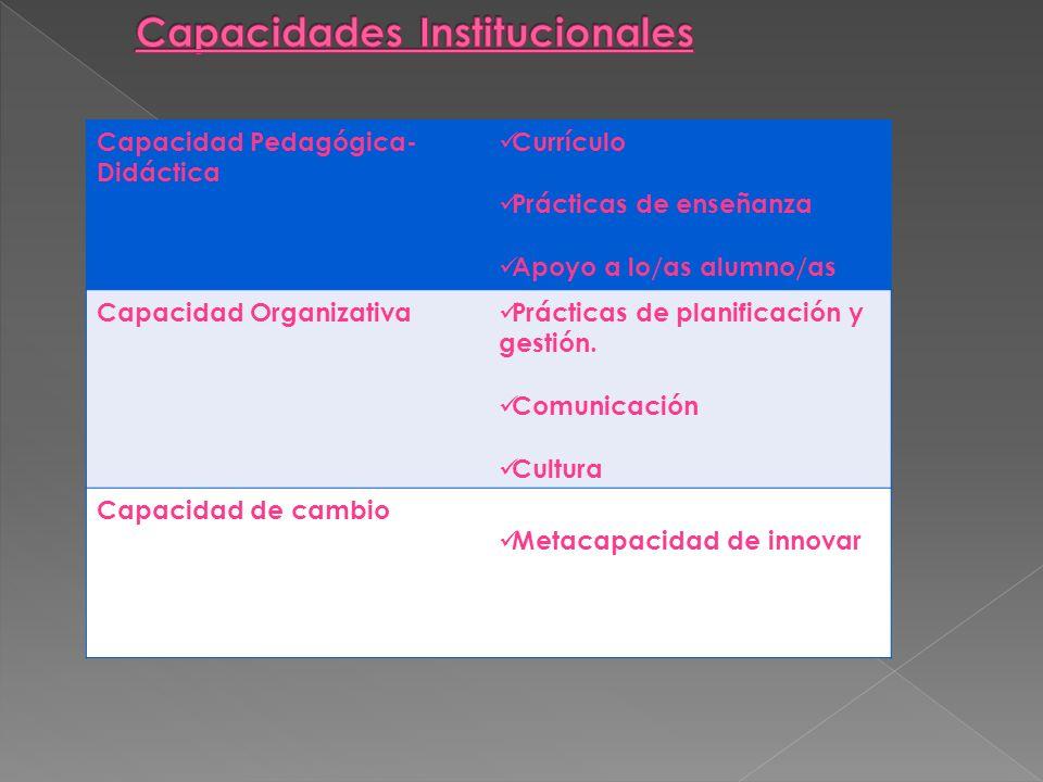Capacidades Institucionales