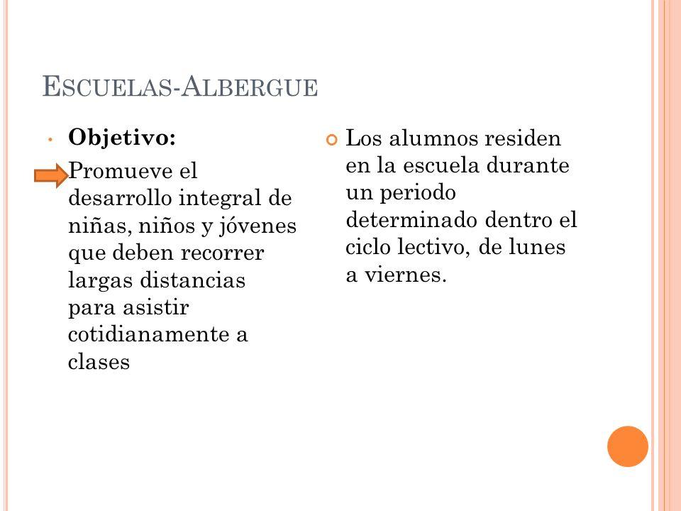 Escuelas-Albergue Objetivo: