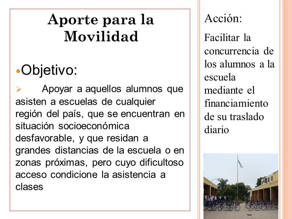 Aporte para la Movilidad